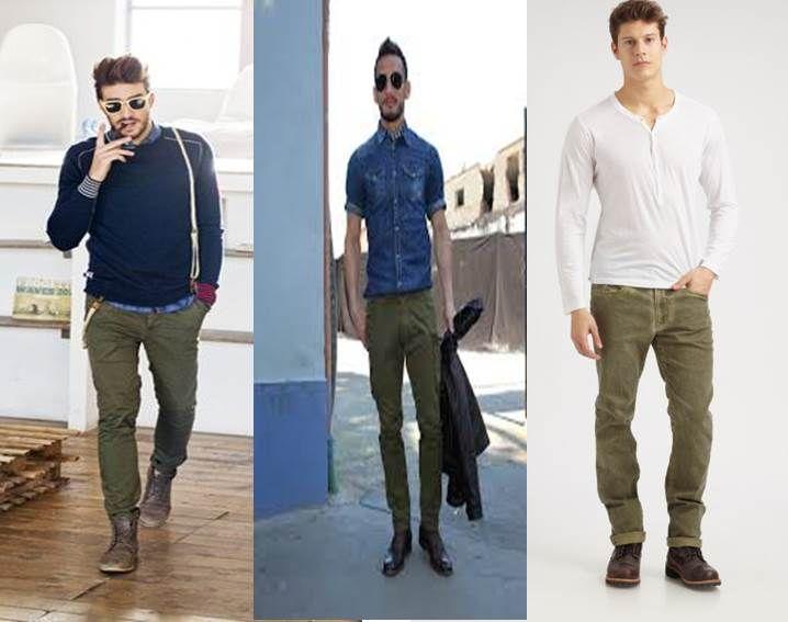 Pantalones Jeans Color Verde Hombre Buscar Con Google Pantalones Verdes Militares Pantalones Verdes Pantalones