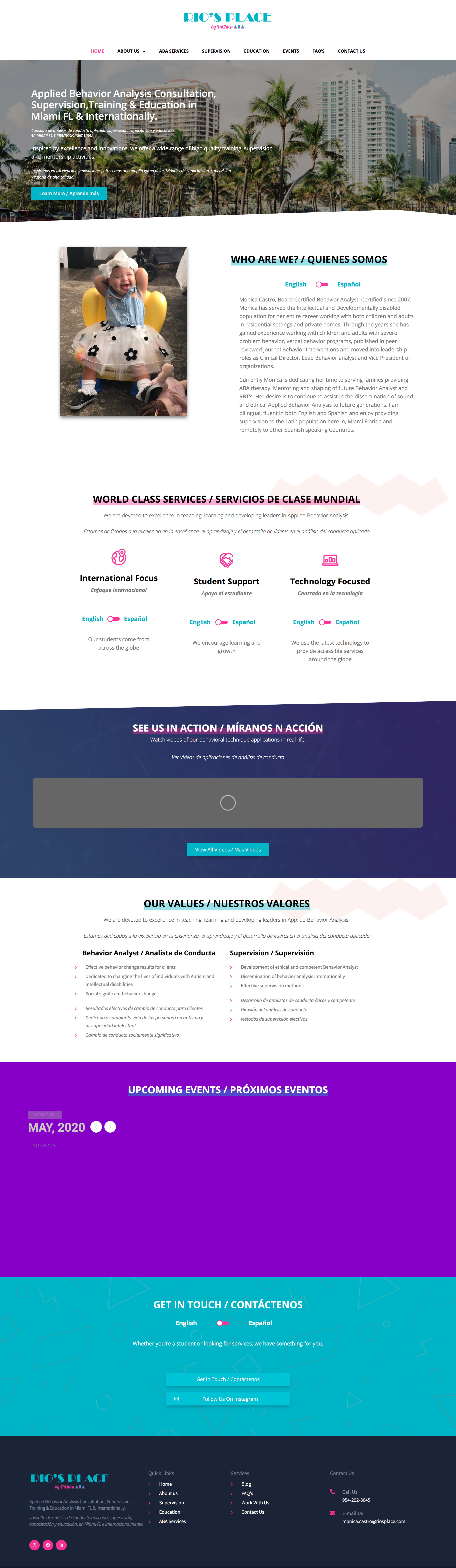 Aba Services Website Design In 2020 Marketing Agency Website Design Marketing