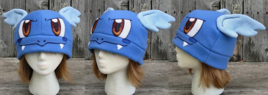 Mega Charizard X Pokemon Fleece Hat with Earflaps