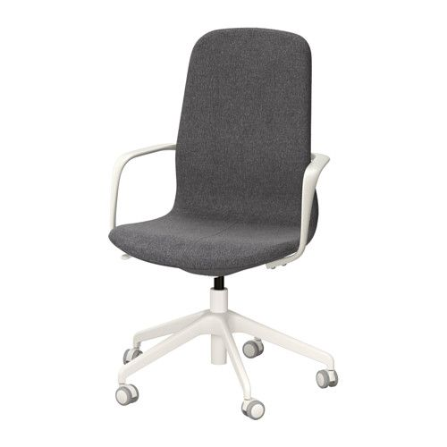 Ikea Ergonomic Office Chair In Ikea Lngfjll Swivel Chair Gunnared Bluewhite An Office With Lightly Curved Lines Attention To The Sewn Details And An Easytouse Mechanism Drehstuhl Dunkelgrau Schwarz