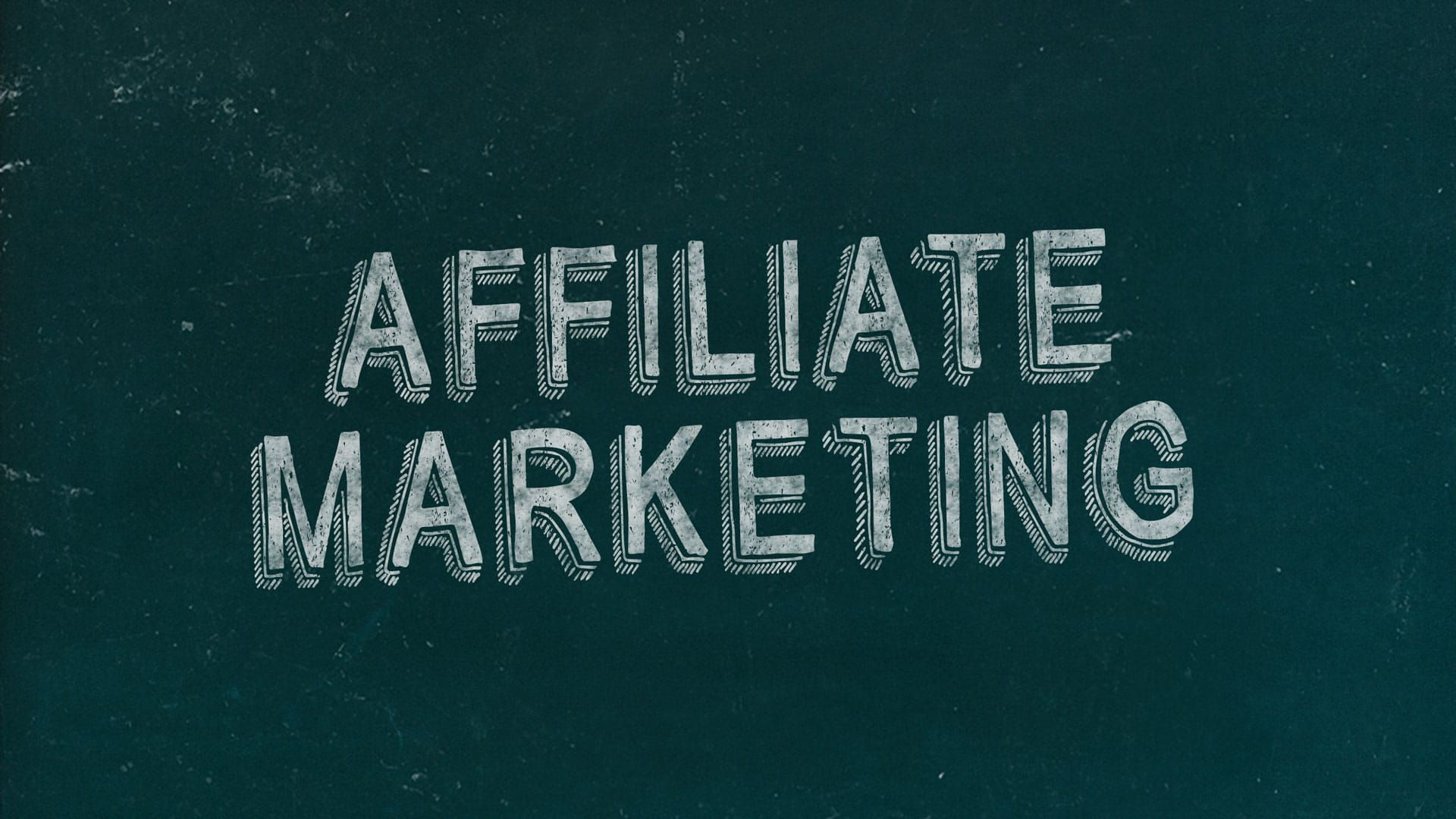 Affiliate Marketing Chalkboard Marketing Slide Free Marketing