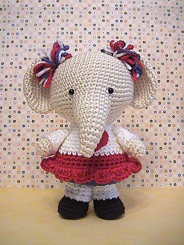 Ravelry: Elephant GIRL pattern by StudioNyske | 500x375