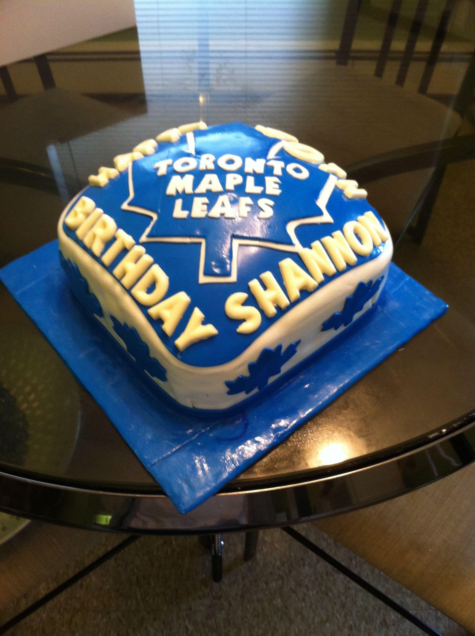 Toronto Maple Leafs Birthday Cake Gregs Bday Pinterest