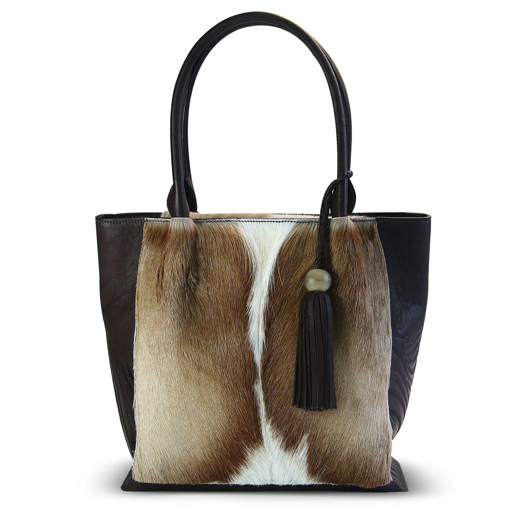 ee75d5385f4c genuine Springbok leather handbag