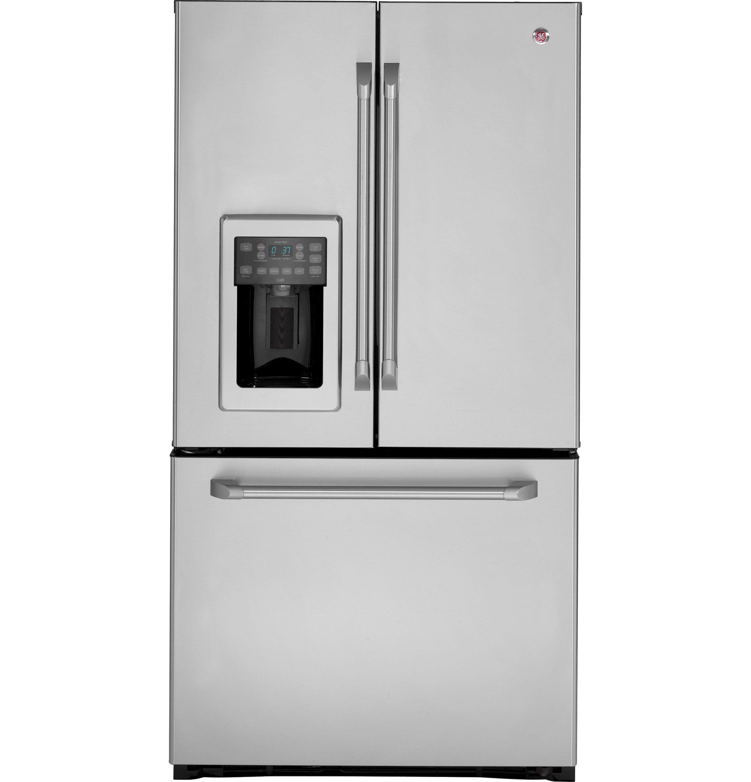 GE Café™ Series ENERGY STAR® 25.1 Cu. Ft. French Door Refrigerator |  CFSP5RKBSS. French Door RefrigeratorCounter Depth ...