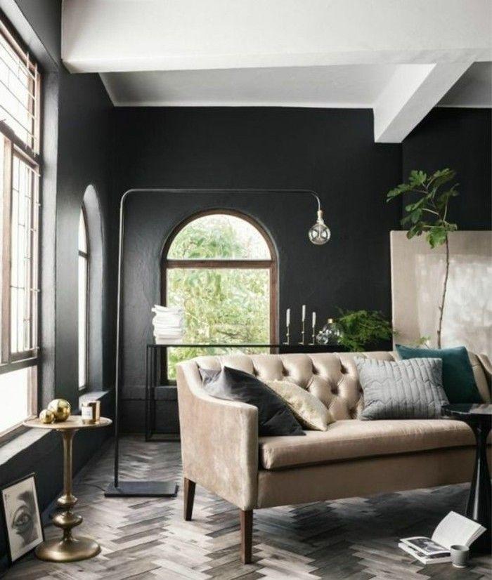 couleur peinture salon conseils et 90 photos pour vous inspirer salon cosy pinterest. Black Bedroom Furniture Sets. Home Design Ideas