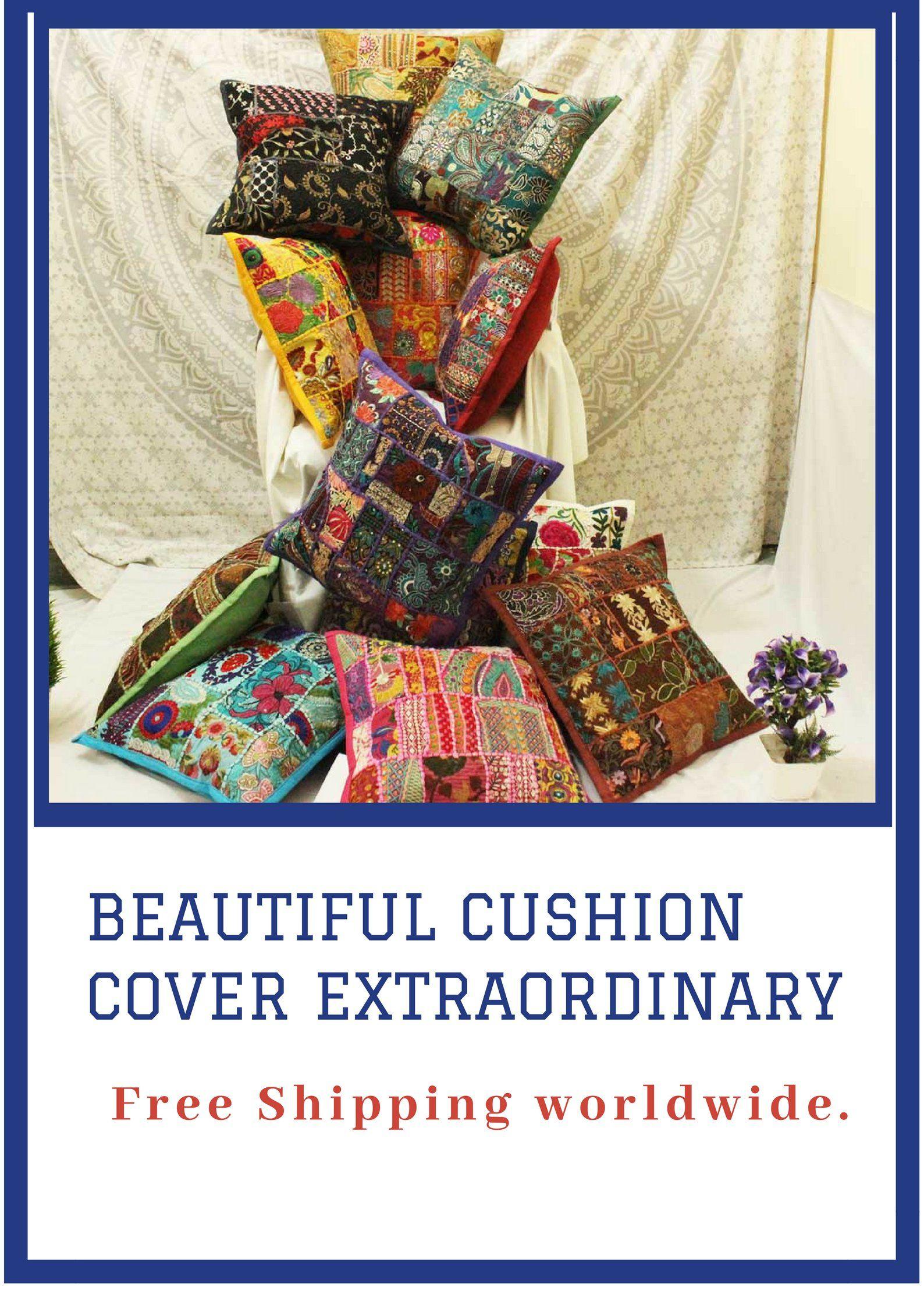 Vintage bohemian patchwork cushion cover decorative pillow
