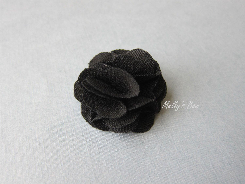 Black linen magnetic lapel flower wedding boutonniere black linen magnetic lapel flower wedding boutonniere buttonhole magnet lapel pin tuxedo dhlflorist Choice Image
