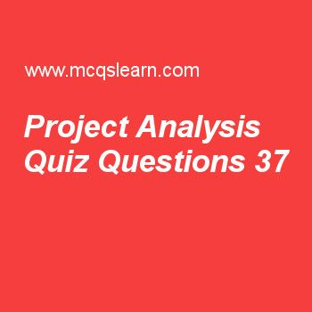 Learn Quiz On Project Analysis Bba Financial Management Quiz