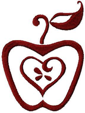 free apple machine embroidery