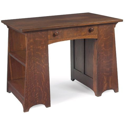 L J G Stickley Desk Table 512 Quartersawn Oak Fayetteville New York Circa 1910 30 Arts And Crafts Furniture Mission Style Furniture Oak Furniture