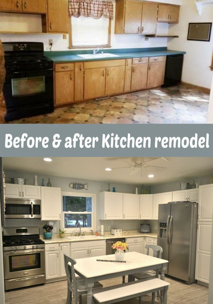 Outdated & Dark Kitchen Remodel Into a Bright, Cheery Coastal Kitchen