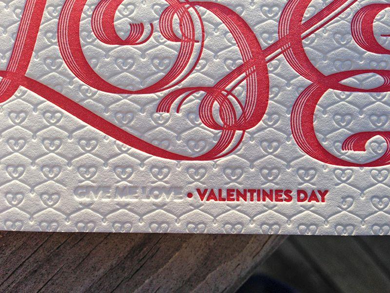 Give Me Love Valentine's Day Card by dolce letterpress