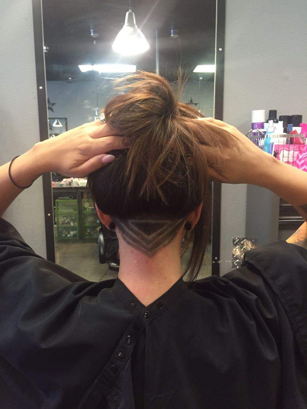 Triangle Undercut Undercut Long Hair Hair Styles Undercut Hairstyles