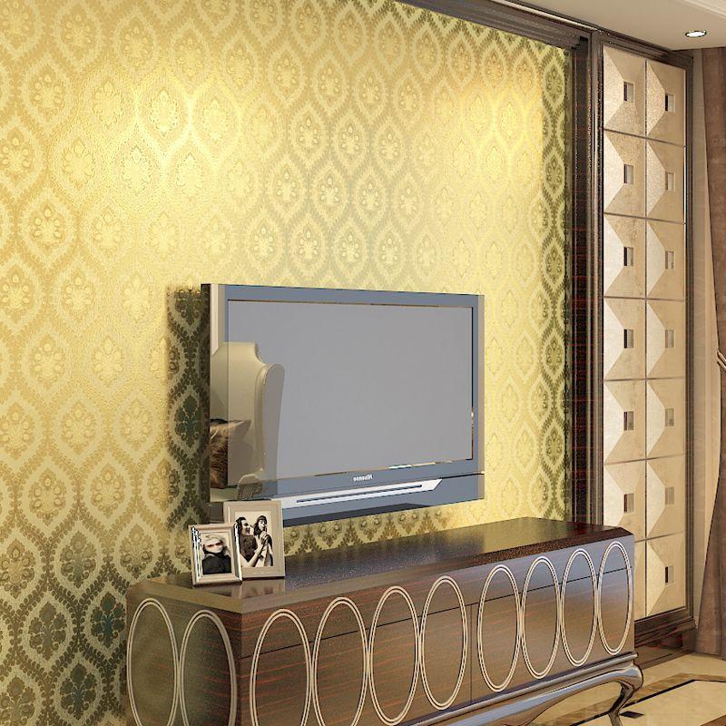 Modern Gold Foil Living Room Wallpaper For Walls 3 D Contact-paper ...