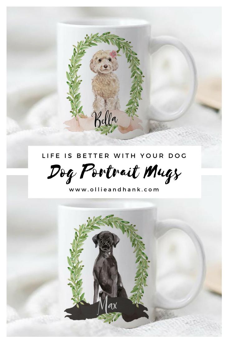 8cf3c10df20a0 Custom Dog Portrait | Personalized Dog Mug | Tea & Coffee gifts and ...