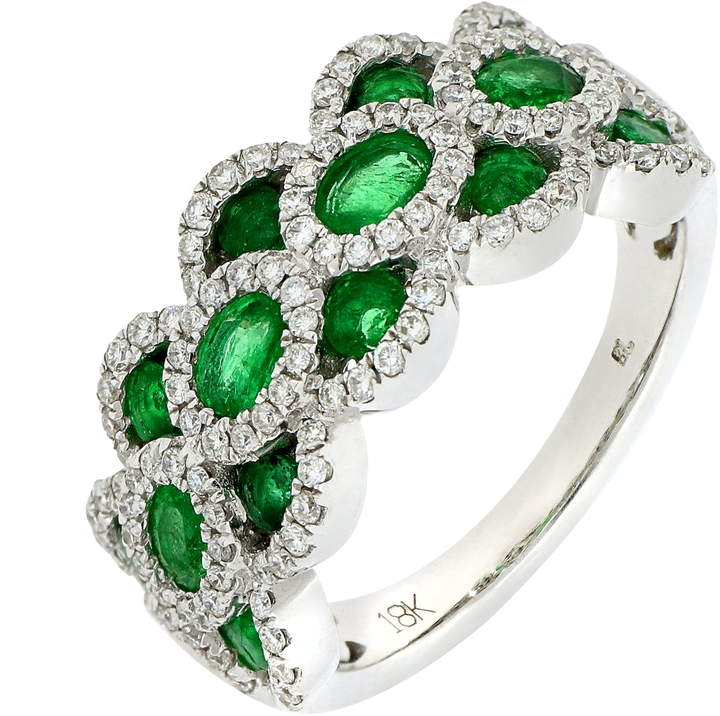 aa839a619d501 Bony Levy Layered Diamond & Emerald #Ring | Beautiful Accessories ...