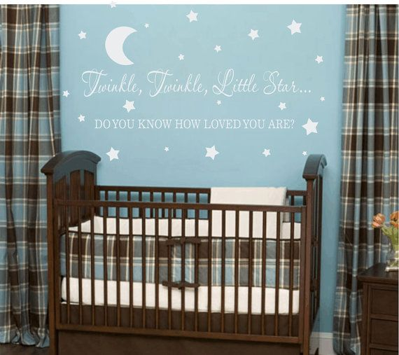 twinkle twinkle little star vinyl wall decal - boy girl baby nursery