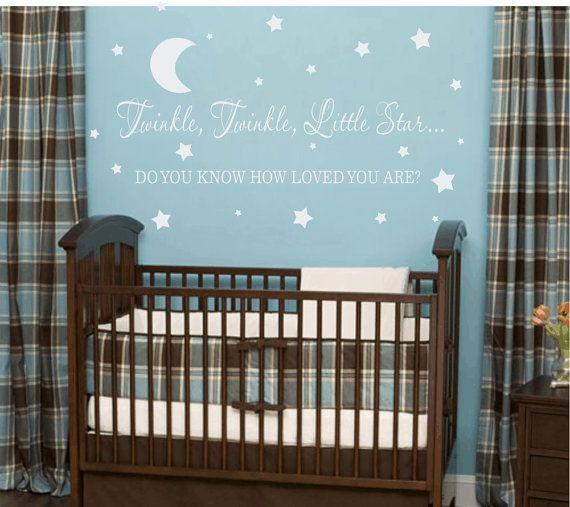 Twinkle Twinkle Little Star Vinyl Wall Decal Baby Nursery Wall - Vinyl wall decals baby room