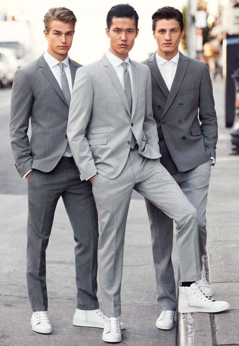 Wear Men's Formal Clothes With Sneakers