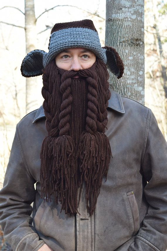 Trapper Hhunter Halloween Costumes 2020 Dwarf Hunter Trapper Hat and Beard Costume by TaylorFour on Etsy