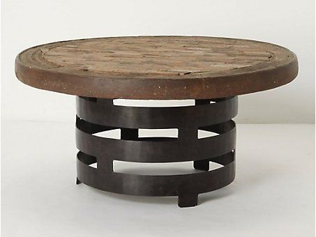 Coffee Table Round Iron Glass Top Wrought Small Tables