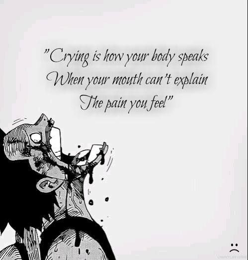 "Saying Quotes About Sadness: "" Crying ..."" Anime : One Piece [ Luffy ]"