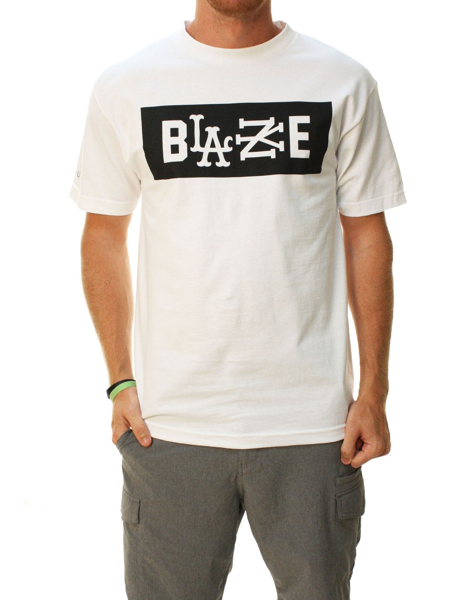 Famous Stars And Straps RS Blaze Mens Short Sleeve Graphic Tee White