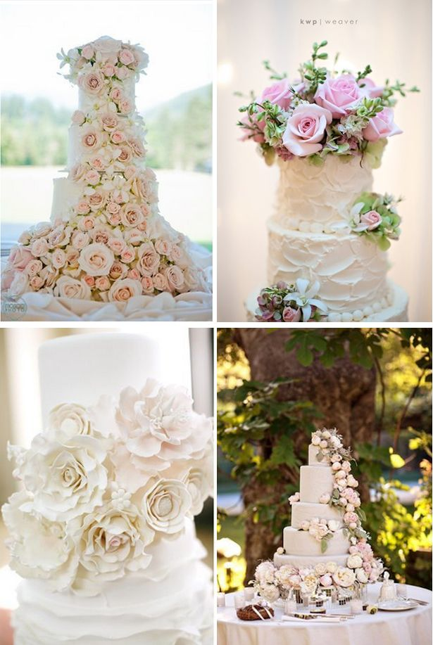 Flower Adorned Wedding Cakes Cake Ideas And Trends Confections