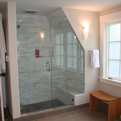 Bathroom Attic Shower Design Pictures Remodel Decor And