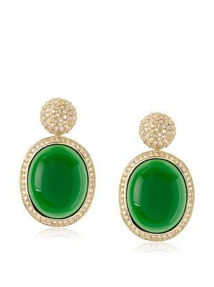 67% OFF Belargo Oval Disk Pave Earrings