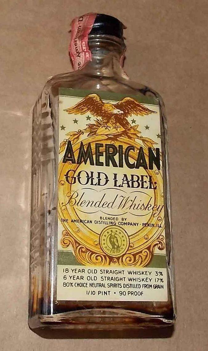 American Gold Label Mini Liquor Bottles Liquor Bottles Wine And Beer