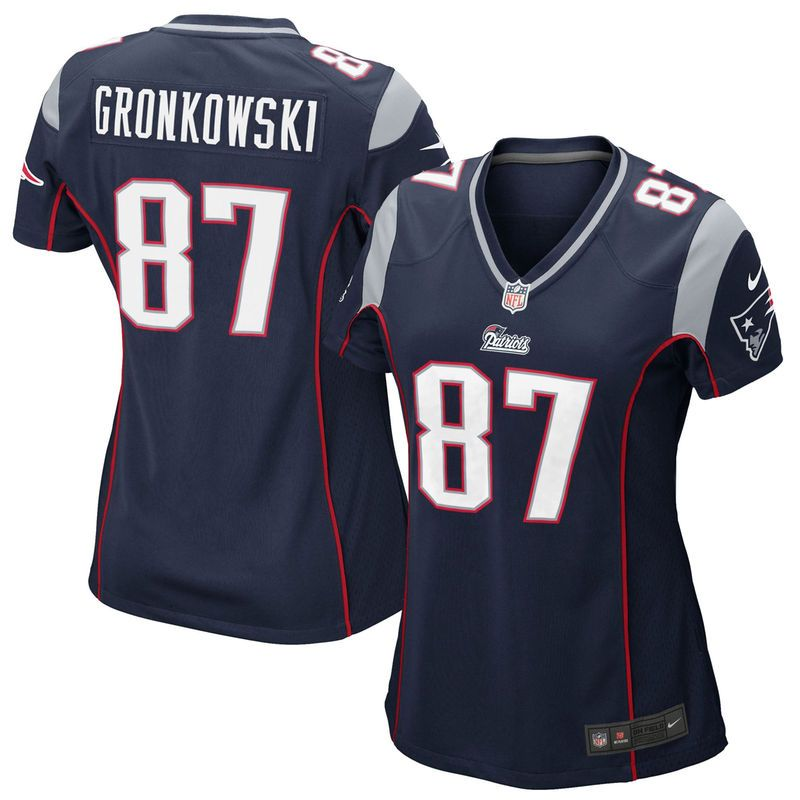 70bccb90323 ... super bowl xlix womens stitched nfl elite drift fashion jersey; rob  gronkowski new england patriots nike womens limited jersey navy blue