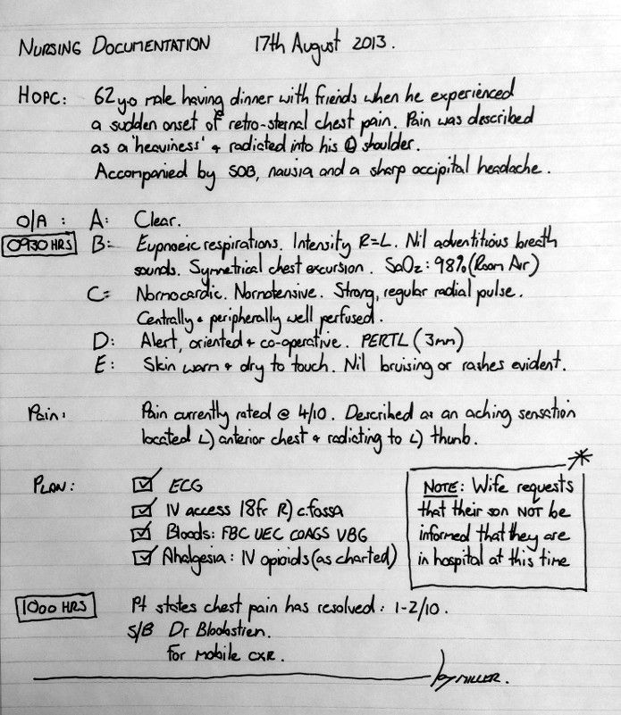 nursing notes How To Document Nursing