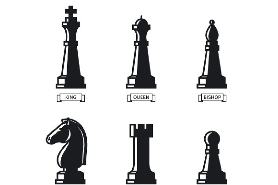 Chess Pieces Chess Pieces Chess Flat Icon