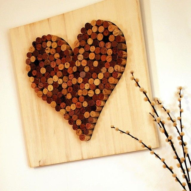 Картина для декора интерьера из пробок от вина | Cool ideas. New ...