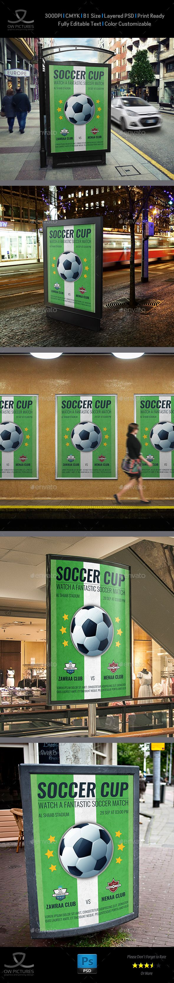 Soccer - Football Poster Template by OWPictures Poster Description: Soccerâ€...