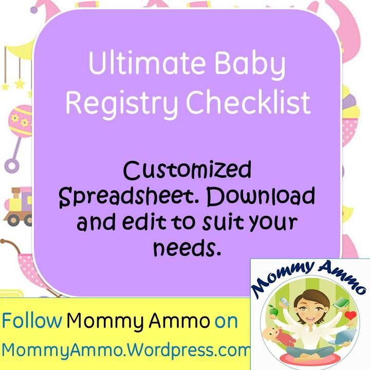 Ultimate Baby Registry Shopping Checklist \u2013 Customizable, Printable