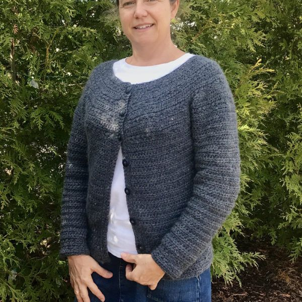Stargazer cardigan crochet pattern by Little Monkeys Design. Crochet pattern includes a crochet stitch tutorial to teach you how to crochet the star stitch.