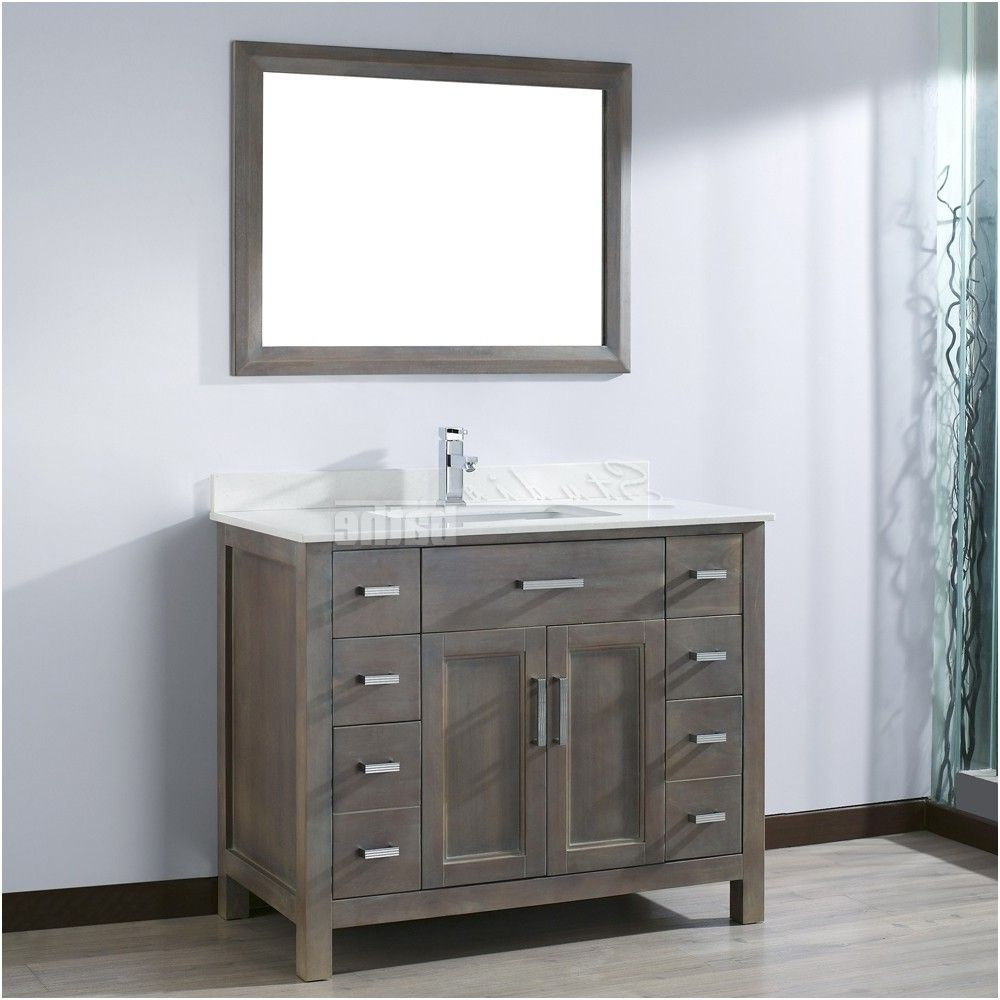 Kelly 42 Inch French Gray Finish Bathroom Vanity From Cabinets