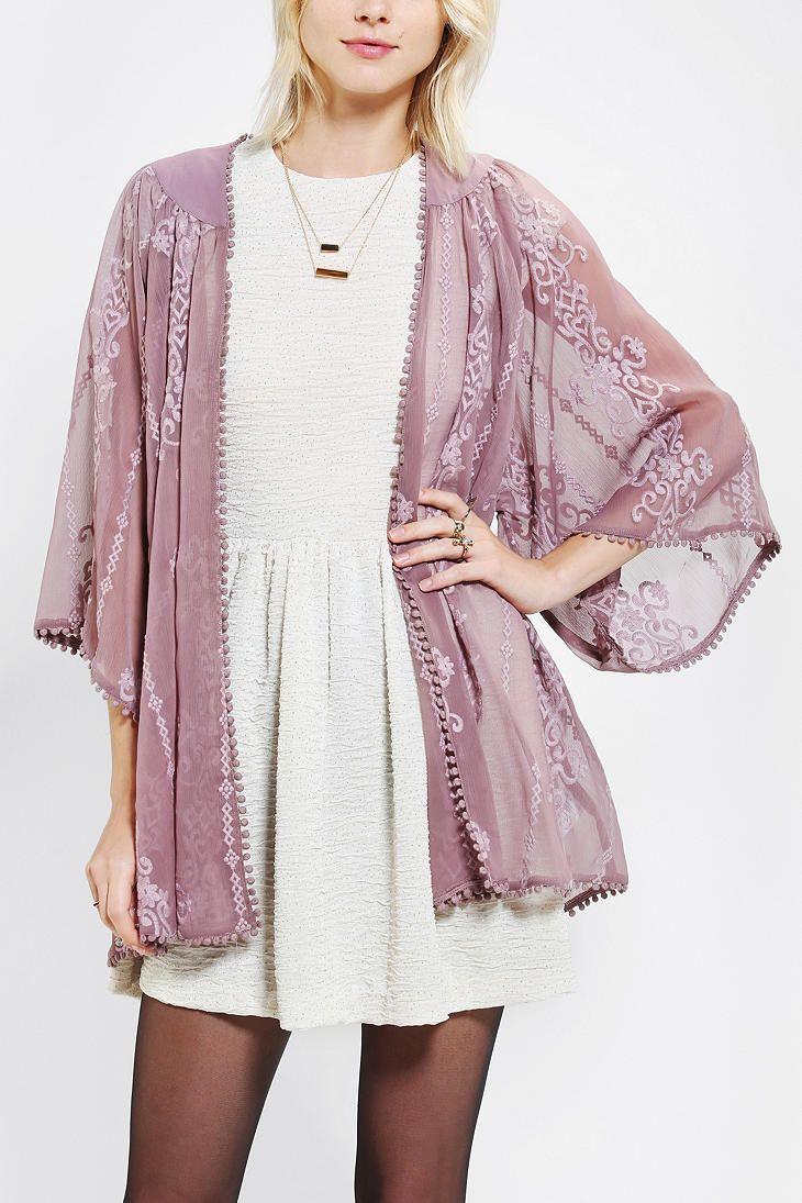 Kimchi Blue Embroidered Kimono Jacket | kimono | Pinterest ...