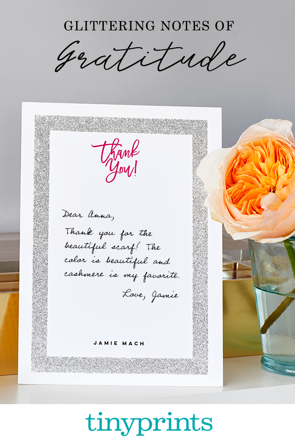 Say thanks with a smile! Send sparkling gratitude with our glitter thank you cards. Shop hundreds of styles to find one that you love.