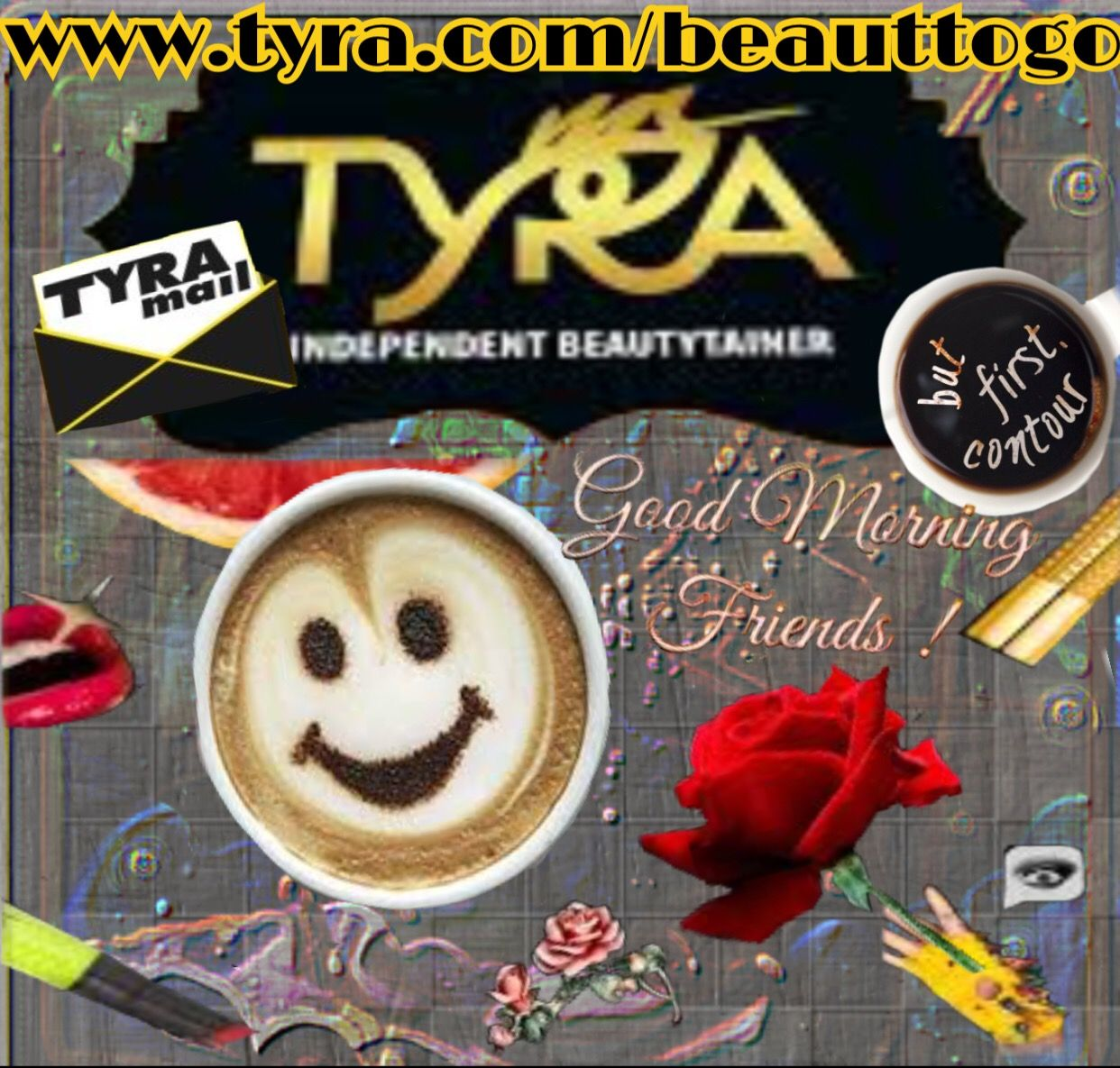 Good morning my beautiful hotties may you be blessed and may you have the absolute wonderful day ever 😘😘😘😘💄👄www.tyra.com/beauttogo #tyrabanks #tyrabeauty #makeup #tyover #contour #beauttogo #business #crew #bossbabe #morning #tuesday #tyra #beauty #americasnexttopmodel #vitiheal #vitiheal03 ❤️💋❤️️👄💄💋