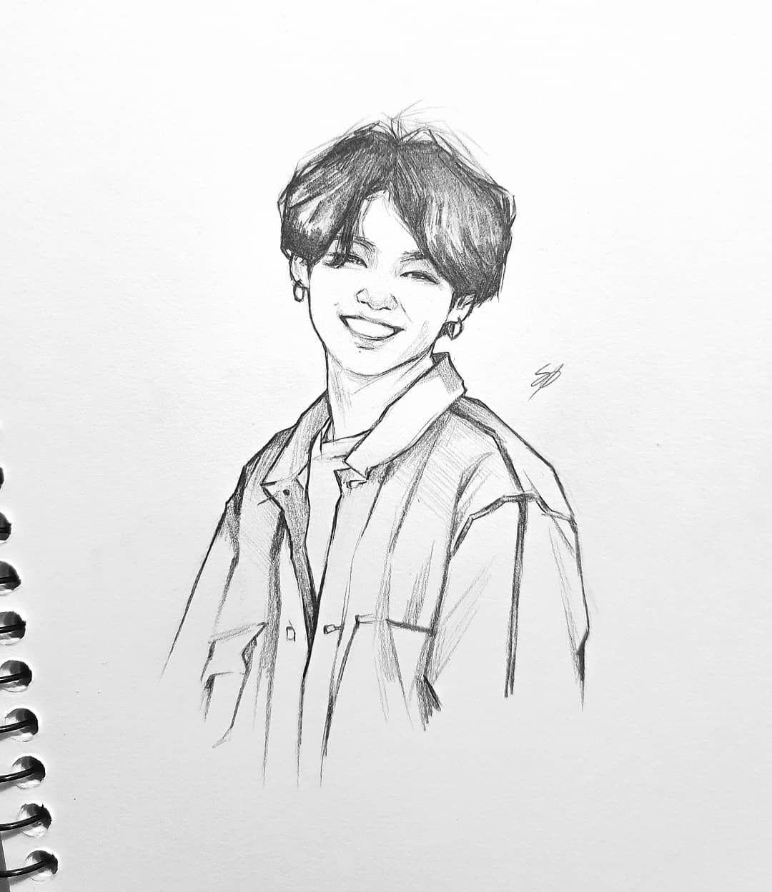 "Photo of • Nikki • on Instagram: ""I need to practice drawing JK more often ? ? #bts #btsfanart #fanart #jungkook #art #drawing #sketch #kpop #kpopfanart"""