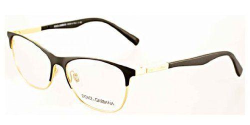 #sale Dolce & Gabbana DG1246 Eyeglasses-1220 Matte Black/Gold-53mm