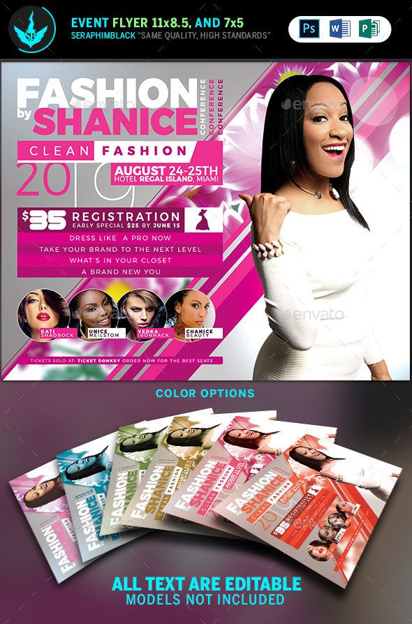 fashion conference flyer template 2 flyer template print