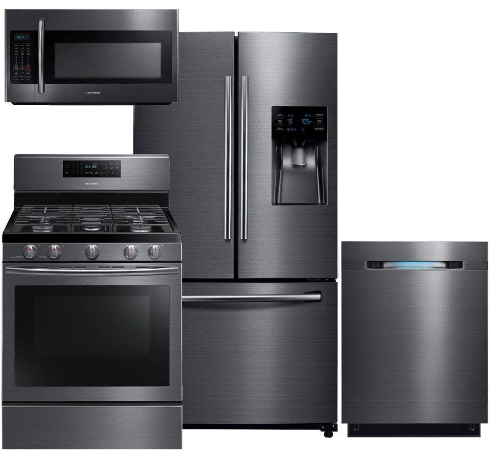 samsung appliance rf263beaesg4pckit2 black stainless steel series rh pinterest com