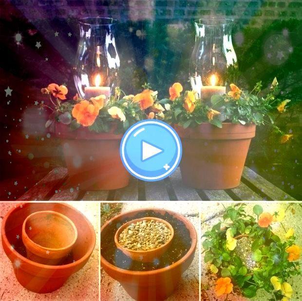 Terracotta Candle Planters Terracotta Candle Planters DIY la table basse coffre en pot de fleur pour le jardin la terrasse ou le balcon à faire soi même With...