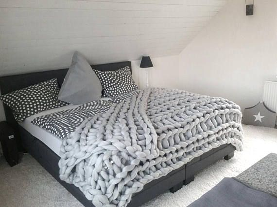 Cable Knit Blanket Queen.Queen Size Chunky Blanket Wool Blanket Queen Cable Knit
