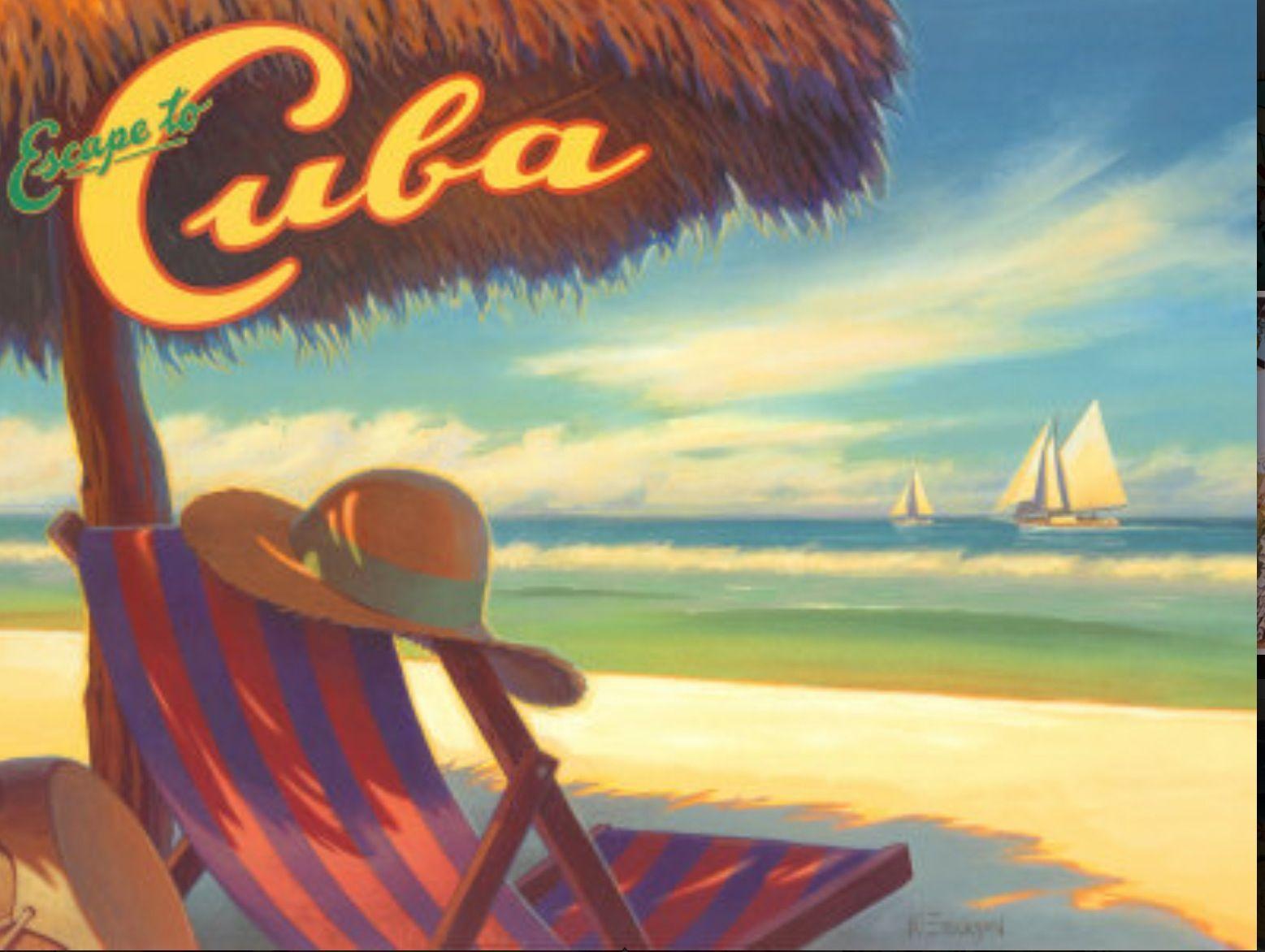Vintage travel poster. | Cuba | Pinterest | Travel posters, Vintage ...